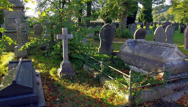 Eyam Graveyard in Derbyshire